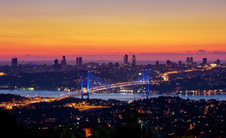 Istanbul evening by G B, via 500px