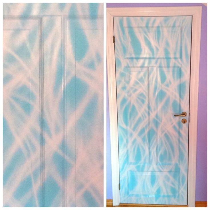 Paint the door to the kidsroom