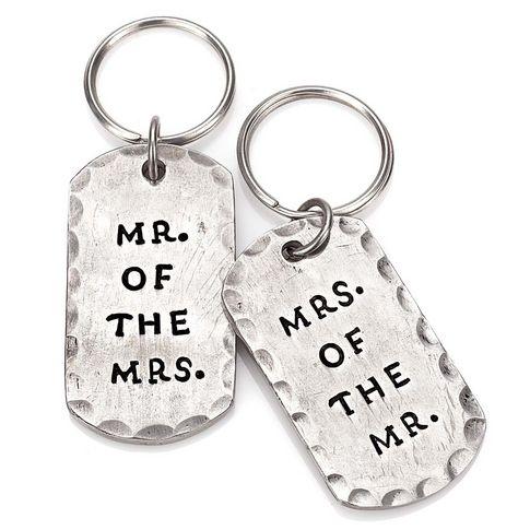 Hochzeitsgeschenk: Schlüsselanhänger-Set für frisch Verheiratet.
