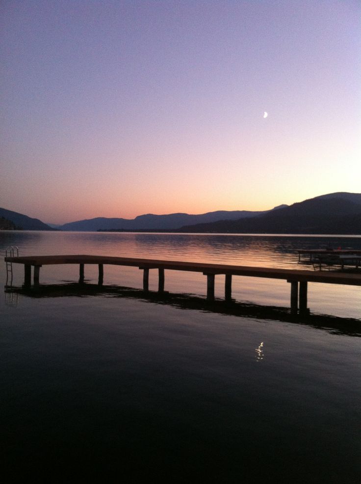 Okanagan Lake near Vernon, BC at dusk