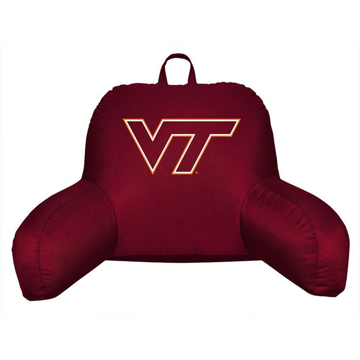 Virginia Tech Hokies Sideline Backrest Pillow, Red