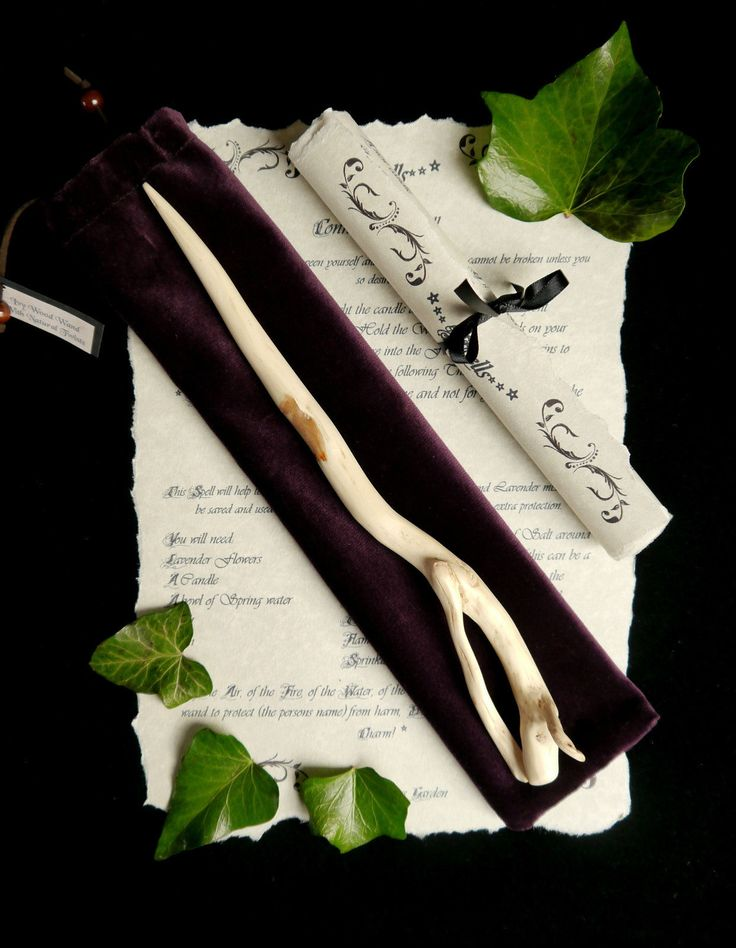 Hand Carved Ivy Wood Wand *Wicca/Pagan/Witch/Wooden/Altar/Faerie/Fey/Elf/larp* | eBay
