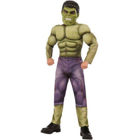 Avengers Hulk Boys Muscle Chest Halloween Costume, Size: Small, Multicolor