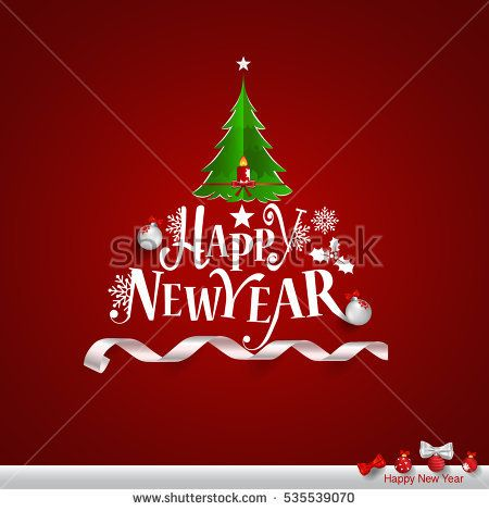 Merry Christmas and Happy new year Greeting Card, vector illustration.