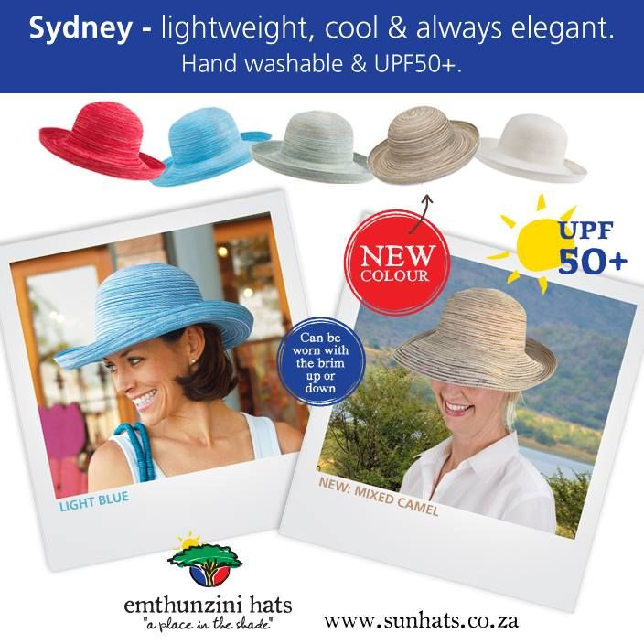 March - featured hat - the Sydney. Lightweight, cool and always elegant.  www.sunhats.co.za