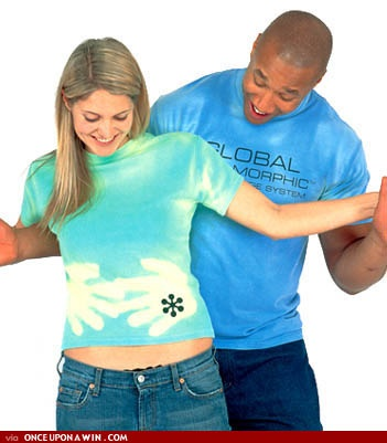 Oh gawd, these hypercolor shirts were the shit back in the day. No way I would be caught dead in one now.