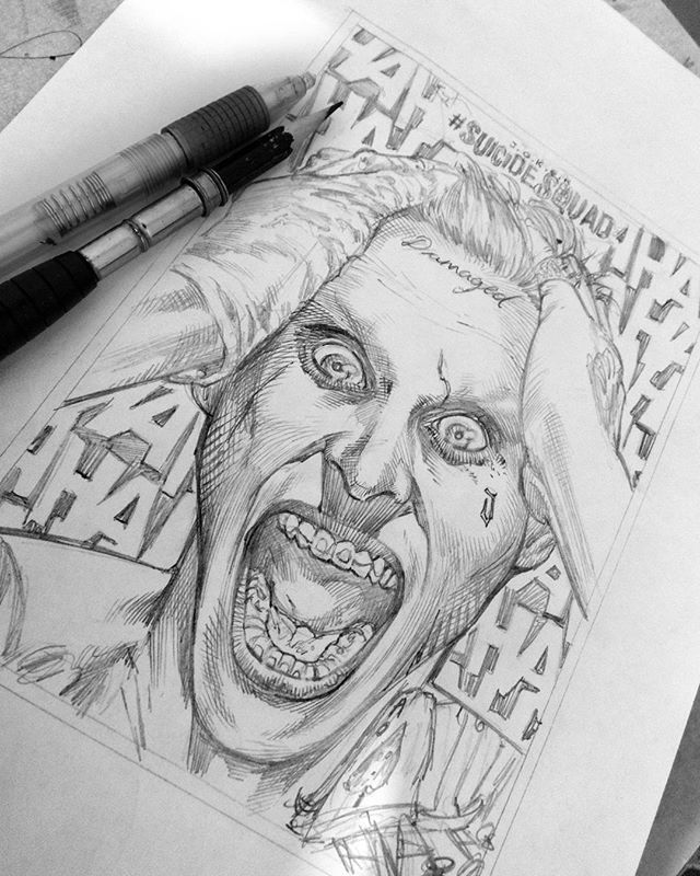 Sketch Poster Joker Suicide Squad! #renatocamilostore #dc #dccomics #joker…