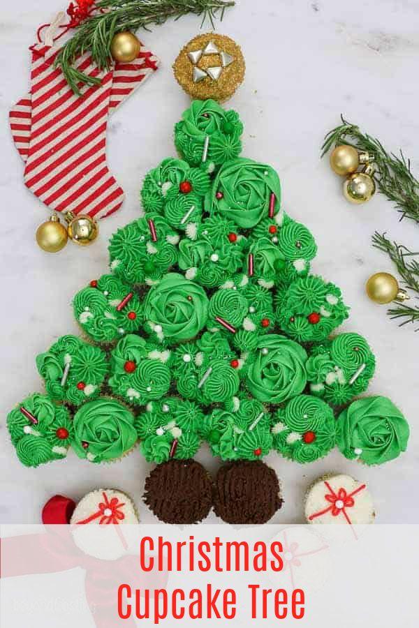 Christmas Tree Cake Recipe In 2020 Christmas Tree Cupcakes Pull Apart Cupcake Cake Christmas Tree Cupcake Cake