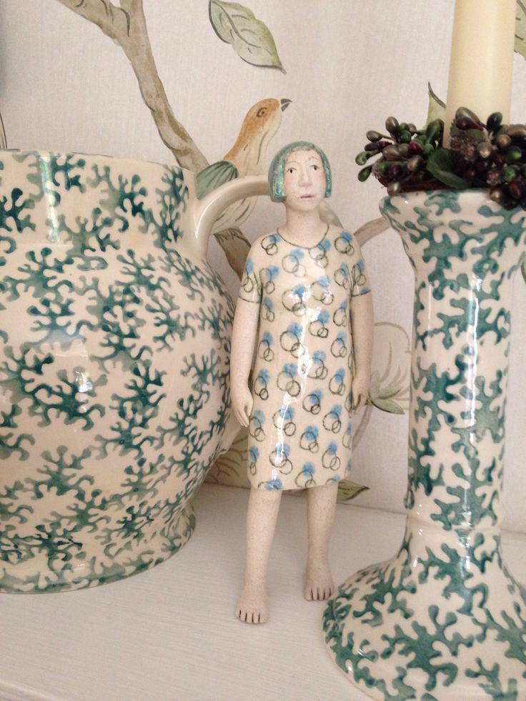 Emma Bridgewater Coral with a visitor.