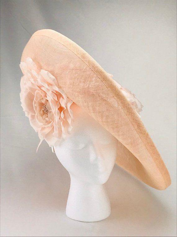 ee041e550fc Blush Pink Sinamay Hatinator