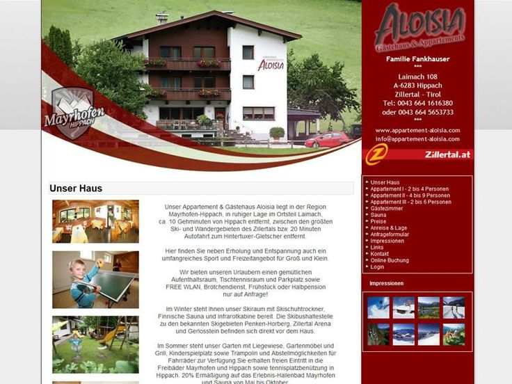 Project: Apartment Aloisia (Responsive Design)