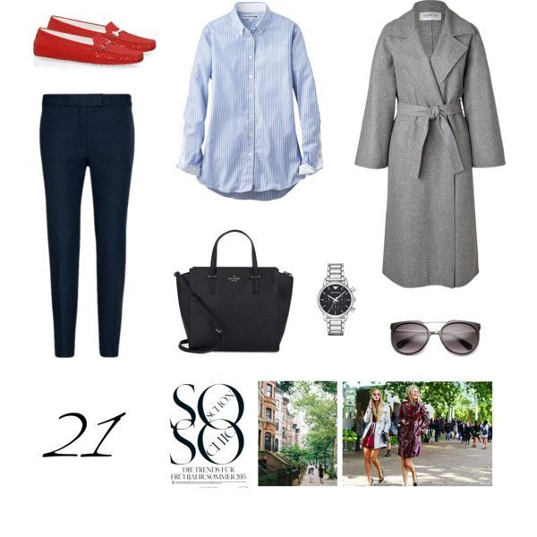 21 by heapinghazelnut on Polyvore featuring Mode, Uniqlo, Valentino, Joseph, Tod's, Kate Spade and Emporio Armani
