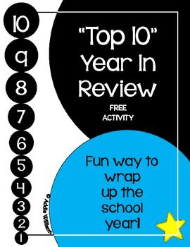 """FREE - """"10 Ten Lists""""  - great way to wrap up the school year!"""