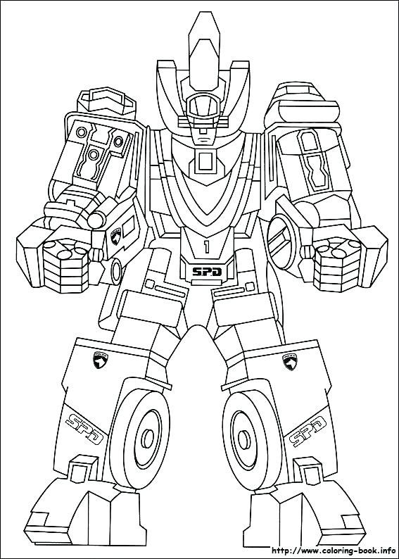 Megazord Coloring Pages Power Rangers Coloring Pages Power