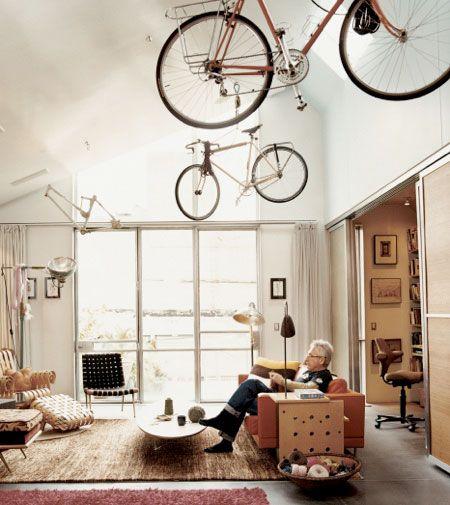 Living Home... Indoor Bicycle Storage