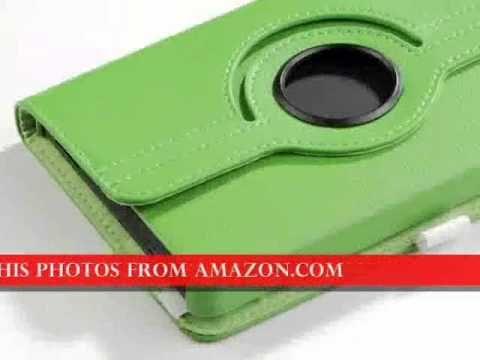 http://youtu.be/CsFlSjzdZsI Green 360 Rotating Stand PU Leather Pandamimi ULAK(TM) Case Cover For Am...