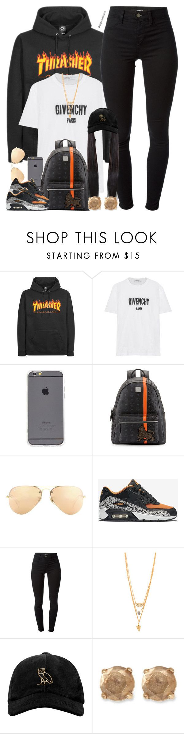 """T H R A S H E R"" by urban-stylefashion ❤ liked on Polyvore featuring Givenchy, MCM, Ray-Ban, NIKE, J Brand, A.V. Max, October's Very Own and Lucky Brand"
