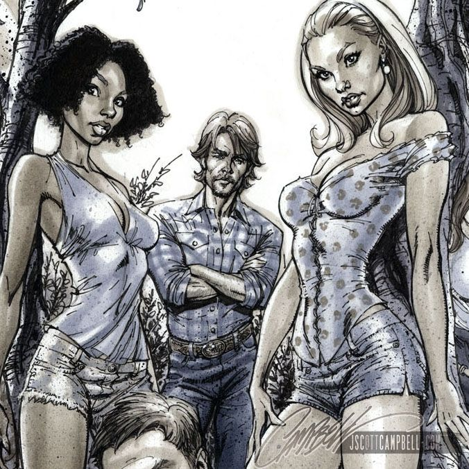 TRUE BLOOD: Tainted Love - Covers 1-6, in J. Scott Campbell's Danger Girl and More!!! Comic Art Gallery Room - 841290