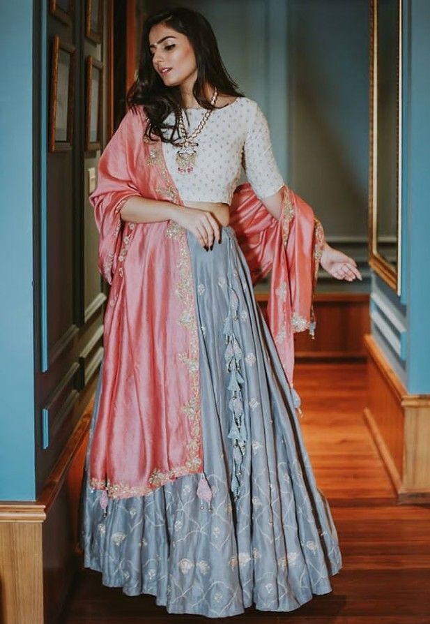 d14ddce6eb2d Beautiful Lehenga-Choli with traditional silhouettes and classy color  combinations. | Ethnic Wear & Lehengas in 2019 | Indian dresses, Indian  attire, ...