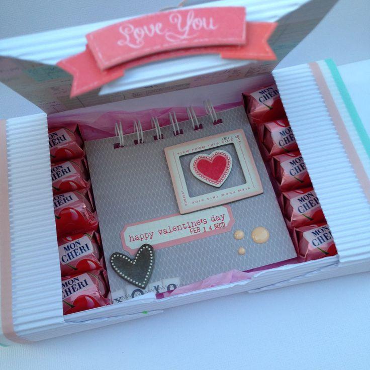 Tutorial: Caja de bombones con Mini-álbum por @Anixu Ceuta   Tutorial: Chocolate Box + Mini Album by @Anixu Ceuta