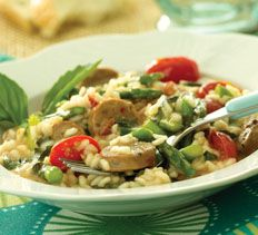 Risotto with Sausage and Asparagus | Pasta | Pinterest
