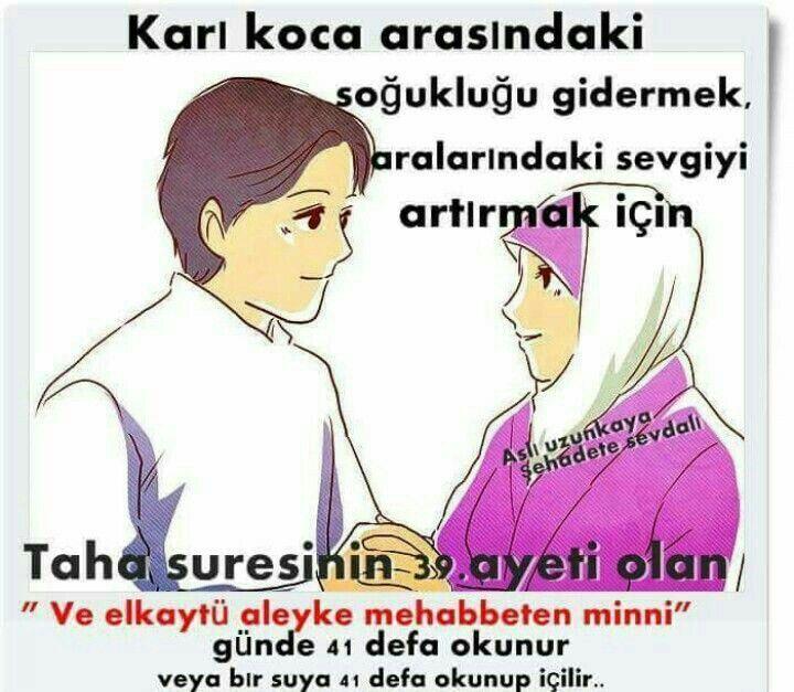 Karı koca muhabbet için  dua