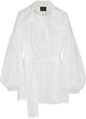ShopStyle: Vivienne Westwood Anglomania Pirate cotton blouse