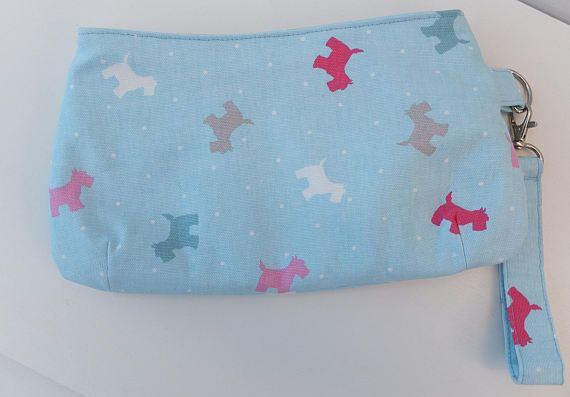 Clutch Wristlet Purse Scottie Dog Swoon Coraline
