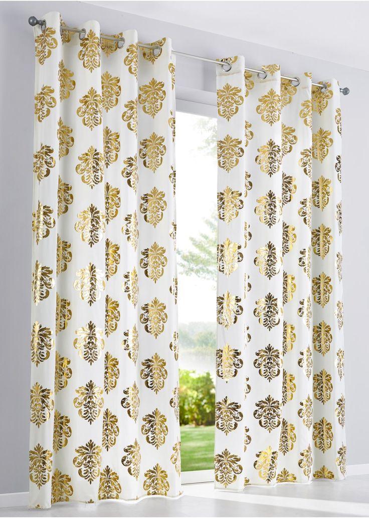 Bekijk nu:Dit gordijn in luxueuze stijl geeft de kamer een elegante look. De hoogwaardige microvezel maakt het gordijn extra fraai. Het gordijn heeft een folieprint aan de voorkant in een gouden tint. Een stijlvolle raamdecoratie!