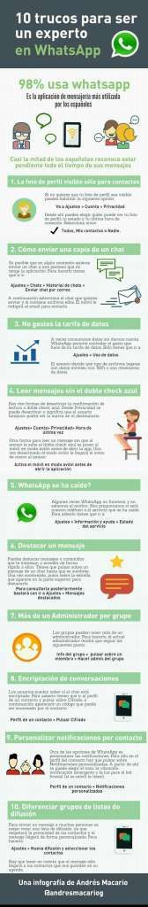 10 trucos para ser un experto en Whatsapp – Conecta2.cat Agencia de Marketing Online