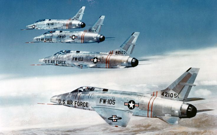 F-100 Super Sabre - was a supersonic jet fighter aircraft that served with the United States Air Force (USAF) from 1954 to 1971