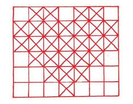 Rødt på hvidt er utroligt effektfuldt. Når du har tegnet hjerter over på kortet, prikker du hullerne og sy korsstingene i disse.