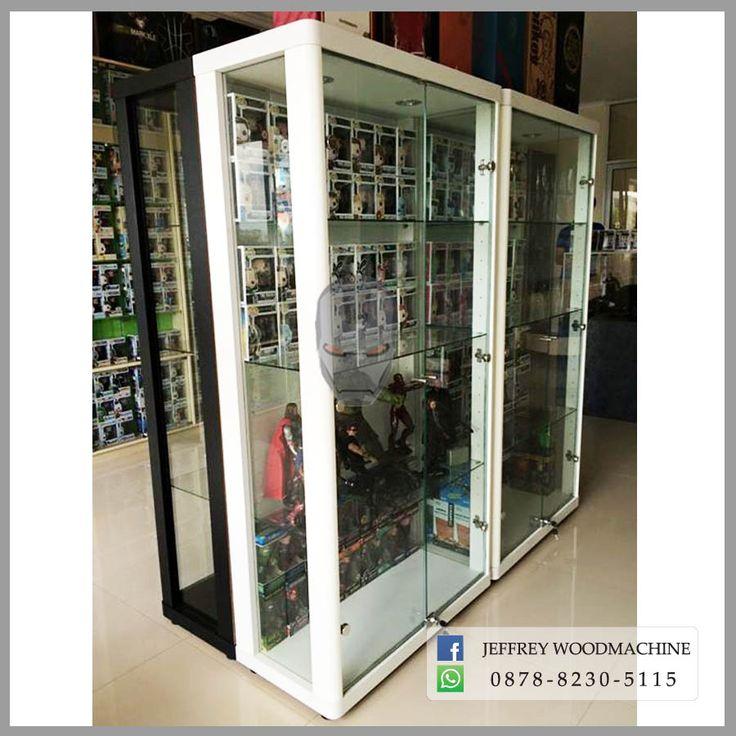 display cabinet, lemari pajangan, lemari pajang kaca, toys, jeffrey woodmachine, rak pajang, funko pop, pop, vinyl, figure, pop culture
