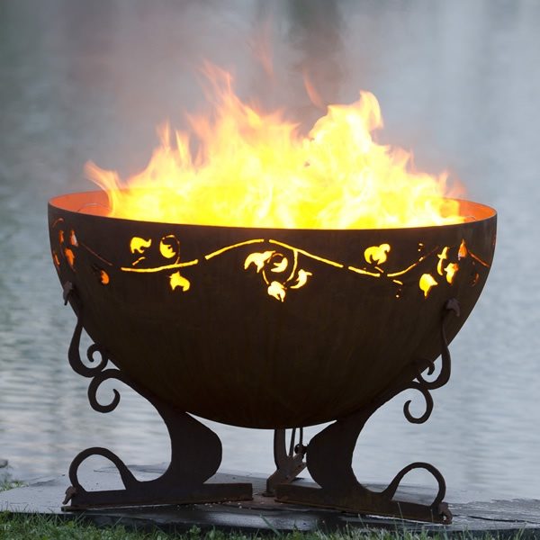 """Ivy Garden 37"""" Hand Crafted Steel Fire Pit 