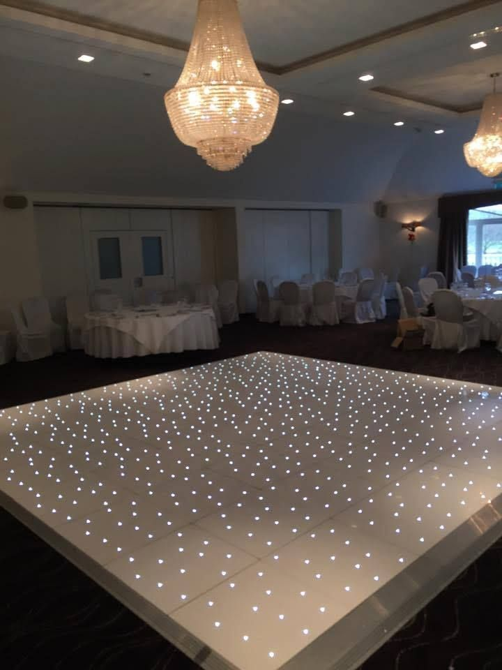 LED dance floor Give your event that WOW factor! Our stunning sparkling starlit LED dance floors are perfect for creating a magical atmosphere!