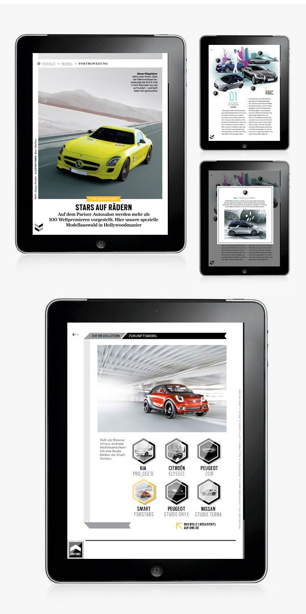 GQ MAGAZIN+ // iPad App by Michael Nolan