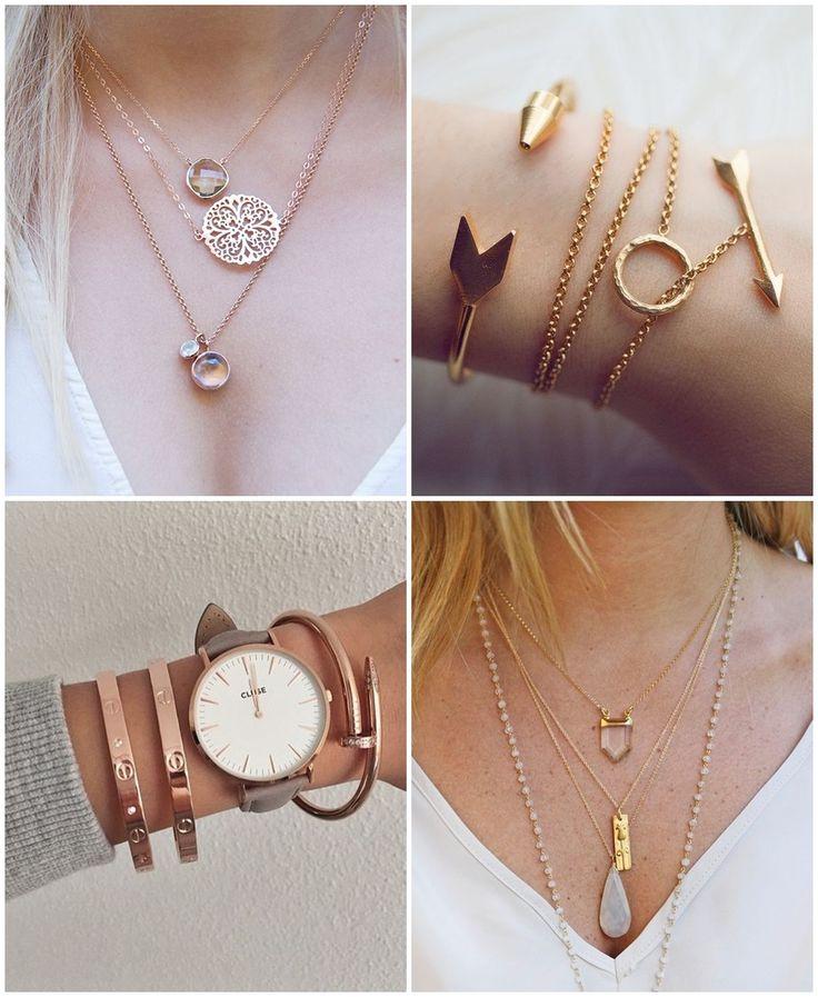 Mix de acessórios - pulseiras e colares minimalistas