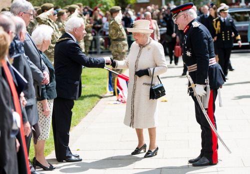 Queen Elizabeth II visits Felsted School in Felsted, England.May 6, 2014