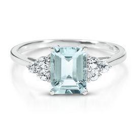 my birthstone - Octagonal Cut Aquamarine Ring - Colored Gem Rings - Rings - Jewelry - Helzberg Diamonds