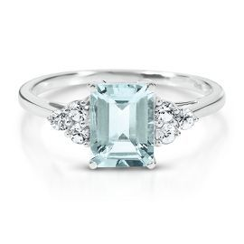 Octagonal Cut Aquamarine Ring | Helzberg Diamonds