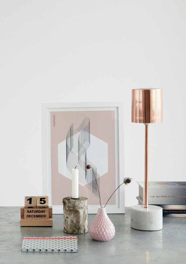 Love that amazing rose gold lamp!: Inspiration, Style, Marbles, Copper Lamps, Tables Lamps, Houses Doctors, Design, Housedoctor, Rose Gold