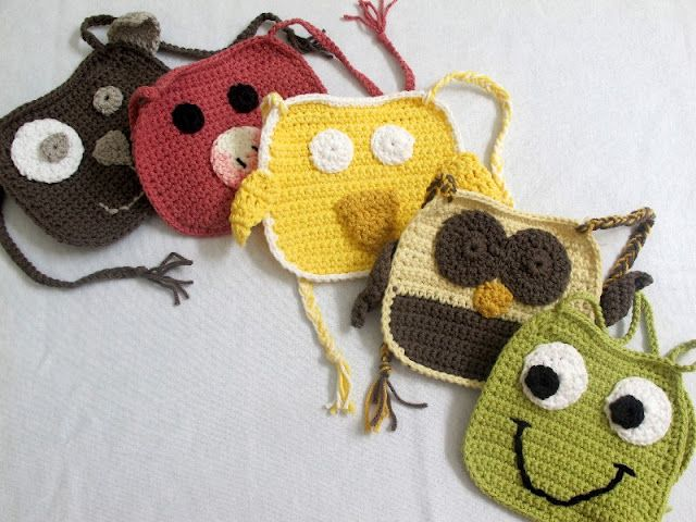 Crochet Baby Bibs but they would make cute purses :