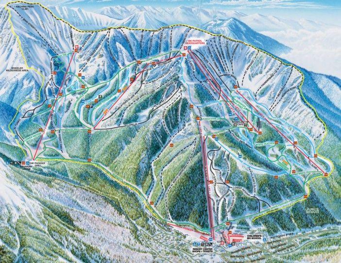 Taos Ski Valley Map! Taos, New Mexico.