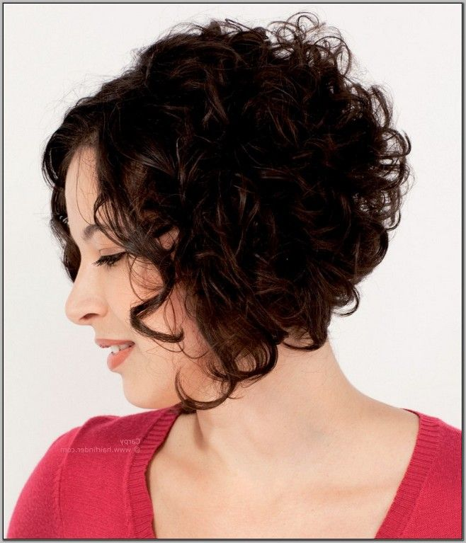 stacked bob haircut for curly hair wwwimgkidcom the