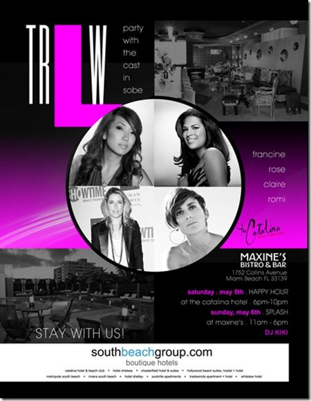 'Real L Word' cast members in South Beach for Aqua Girl parties at Catalina Hotel, Maxine's