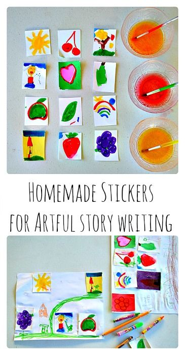 DIY story stickers for artful story telling. Easy art project for kids