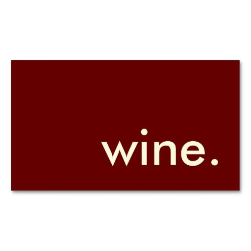 wine. business card template