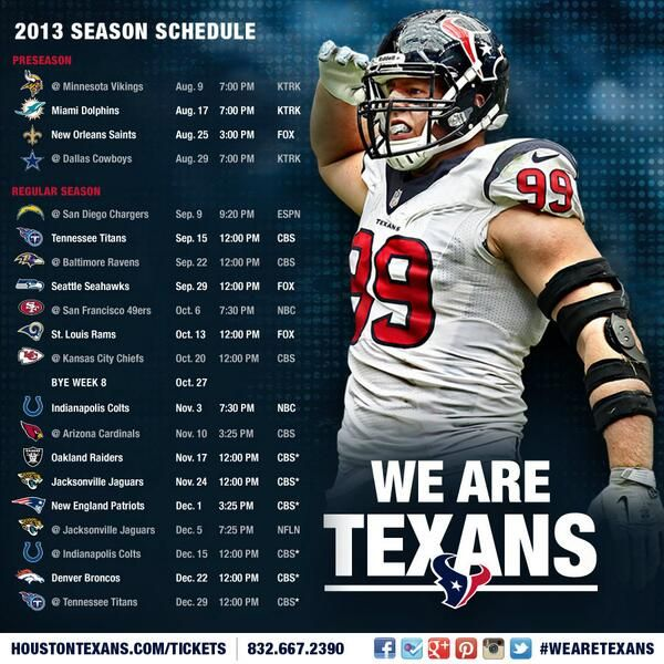 Texans+2013+NFL+Schedule | Houston Texans 2013 schedule - Sports Forums, Sports Hoopla College ...