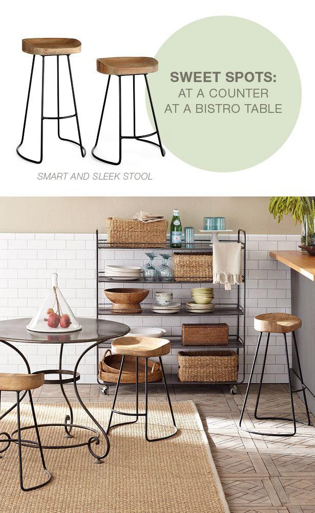 Smart and Sleek Stool - Furniture - Wisteria