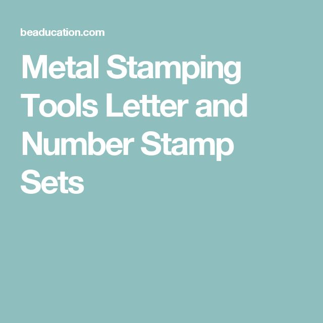 Metal Stamping Tools Letter and Number Stamp Sets